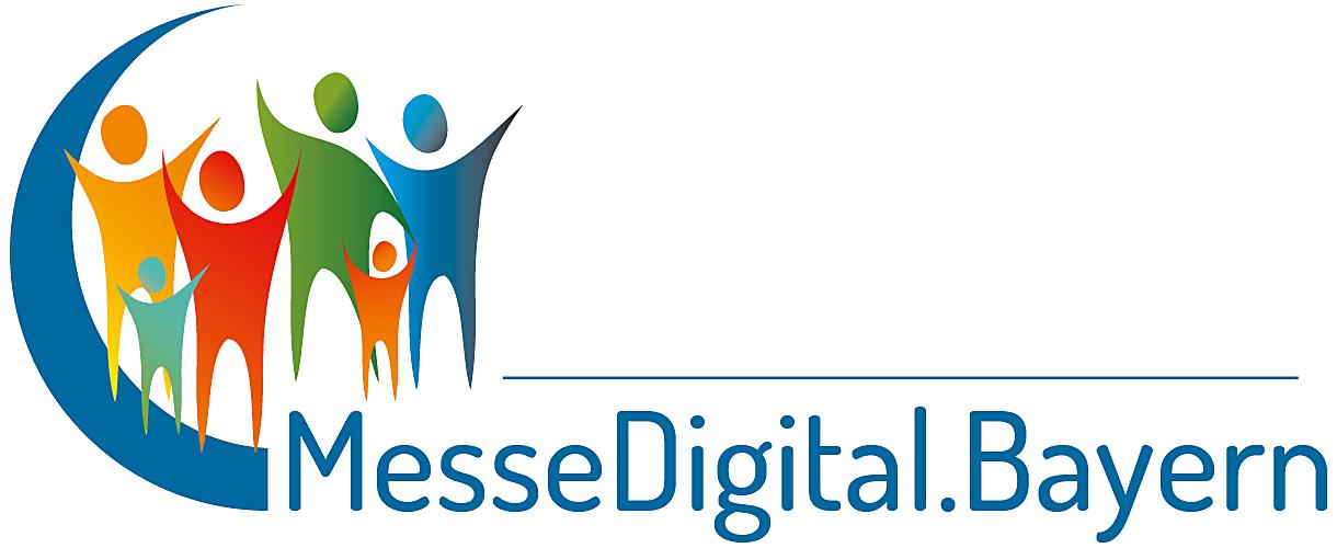 Das Logo der neuen Messe- und Event-Plattform für Bayern :: MesseDigital.Bayern